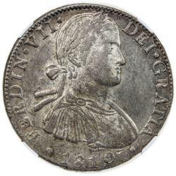 MEXICO: Fernando VII, 1808-1821, AR 8 reales, 1810/09-Mo. NGC AU55