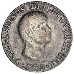 MEXICO: Augustin I Iturbide, 1822-1823, AR 8 reales, 1823-Mo. F-VF