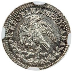 MEXICO: Republic, AR real, 1842-Mo. NGC MS63