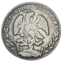 MEXICO: Republic, AR 4 reales, 1867/1. F