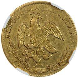 MEXICO: Republic, AV 4 escudos, 1862-Go. NGC AU53