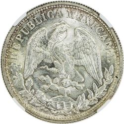 MEXICO: Republic, AR peso, 1898-Mo. NGC MS65
