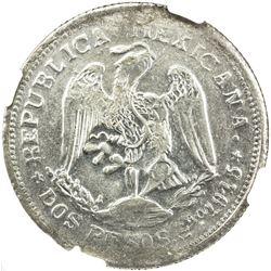 MEXICO: Revolutionary Issue, AR 2 pesos, Campo Morado, Guerrero, 1915-CoMo. NGC AU58