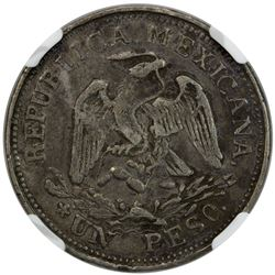 MEXICO: Revolutionary Issue, AR peso, Taxco, Guerrero, 1915. NGC VF35