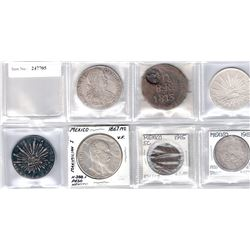 MEXICO: LOT of 7 coins