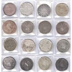 MEXICO: COLLECTION of contemporary counterfeits, some in decent silver, others quite debased