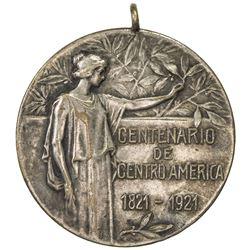 NICARAGUA: Republic, AR medal (16.51g), 1921. EF