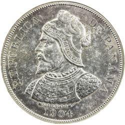PANAMA: Republic, AR 50 centesimos, 1904. NGC MS63