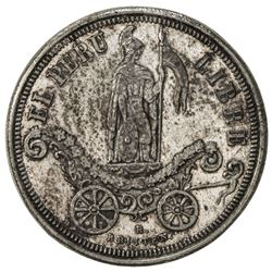 PERU: AR medal, 1863, 24mm, Commemoration of the Declaration of Independence in Callao, EF