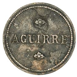 PUERTO RICO: AE 1/2 real token, ND. VF