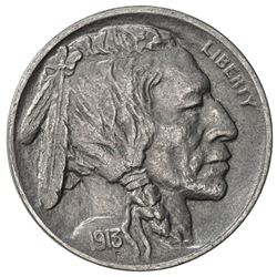 UNITED STATES: 5 cents, 1913-D, EF-AU, Buffalo / Indian Head type II, lovely example