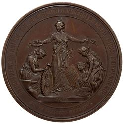 UNITED STATES: AE medal, 58mm, 1876, Centennial of American Independence, AU