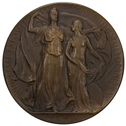 UNITED STATES: AE medal, 1904, EF, 64mm, Bronze medal for the Louisiana Purchase Exposition