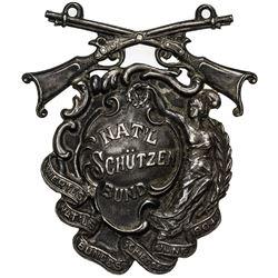 UNITED STATES: AR medal, 1904, VF, 55x45mm (30.54g) National Schützen Bund