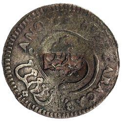 VENEZUELA: Fernando VII, 1808-1823, AE 1/4 real (cuarto), 1818. VF