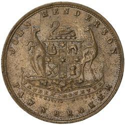 AUSTRALIA: AE penny token, ND [1874], KM-Tn100.2, Renniks-215, Andrews-222, John Henderson