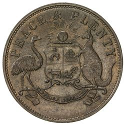 AUSTRALIA: AE penny token, 1863, KM-Tn165, Renniks-357, Andrews-364, Merry & Bush