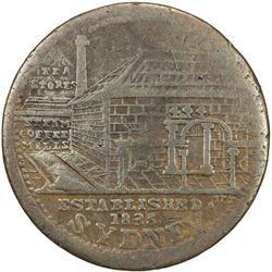 AUSTRALIA: AE penny token, 1853, KM-Tn192.1, Renniks-542, Andrews-431, Peek & Campbell Tea Stores