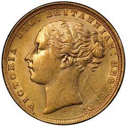 AUSTRALIA: Victoria, 1837-1901, AV sovereign, 1871-S. PCGS AU58