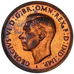 AUSTRALIA: George VI, 1936-1952, AE penny, 1942-I. PCGS PF62