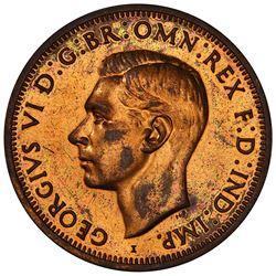 AUSTRALIA: George VI, 1936-1952, AE penny, 1943-I. PCGS PF61