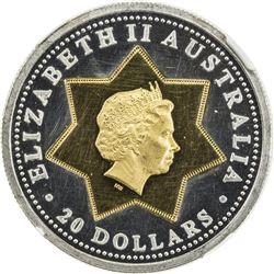 AUSTRALIA: Elizabeth II, 1952-, 20 dollars, [2001]. NGC PF62