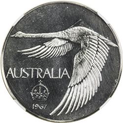 AUSTRALIA: AR pattern dollar, 1967, Bruce-M2, unofficial issue by Andor Meszaros, NGC PF68 Cameo