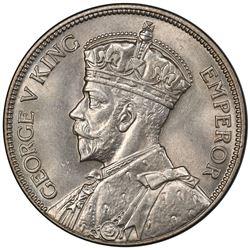 FIJI: George V, 1910-1936, AR florin, 1934. PCGS MS63