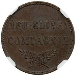 GERMAN NEW GUINEA: Wilhelm II, 1888-1918, AE pfennig, 1894-A. NGC MS63