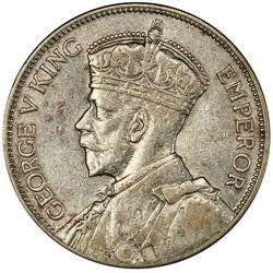 NEW ZEALAND: George V, 1910-1936, AR florin, 1936. PCGS AU50