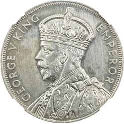 NEW ZEALAND: George V, 1910-1936, AR crown, 1935. NGC PF62