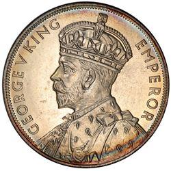NEW ZEALAND: George V, 1910-1935, AR crown, 1935. PCGS PF64