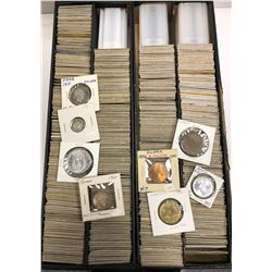 WORLDWIDE: LOT of 536 coins, all from the same collection, many interesting types