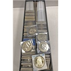 WORLDWIDE: LOT of 146 silver coins, crown and half crown sized