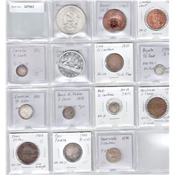 WORLDWIDE: LOT of 14 North & South American coins