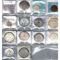 WORLDWIDE: LOT of 13 coins