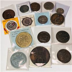 WORLDWIDE: LOT of 15 medals and tokens