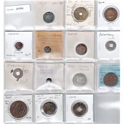 WORLDWIDE: LOT of 14 miscellaneous coins, mostly from Indonesia: Southeast Asia