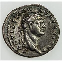 ROMAN EMPIRE: Domitian, 81-96 AD, AR denarius (3.47g), Rome. VF