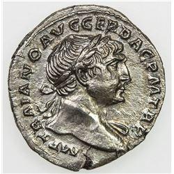 ROMAN EMPIRE: Trajan, 98-117 AD, AR denarius (2.93g), Rome mint. EF