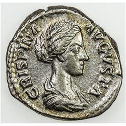 ROMAN EMPIRE: Crispina, wife of Commodus, AR denarius (3.55g), Rome, 178-182. EF