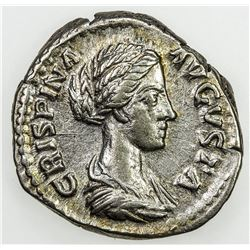 ROMAN EMPIRE: Crispina, wife of Commodus, AR denarius (3.55g), Rome, 178-182. EF