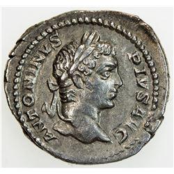 ROMAN EMPIRE: Caracalla, 198-217 AD, AR denarius (3.39g), Rome mint, 206-210. VF