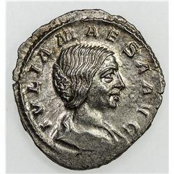 ROMAN EMPIRE: Julia Maesa, grandmother of Elagabalus, AR denarius (3.01g), Rome mint, 218-222. AU