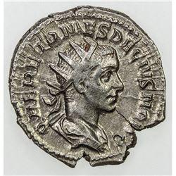 ROMAN EMPIRE: Herennius Etruscus, as Caesar, 251 AD, AR antoninianus (3.56g). EF