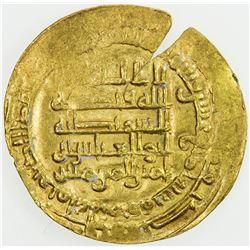 ABBASID: al-Muqtadir, 908-932, AV dinar (2.96g), Mah al-Basra, AH314. EF