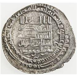 ABBASID: al-Muqtadir, 908-932, AR dirham (2.86g), Mah al-Kufa, AH317. VF