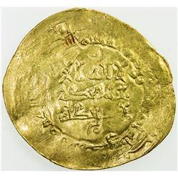 ABBASID: al-Qahir, 932-934, AV dinar (4.18g) (Ham)adan, AH321. VF-EF