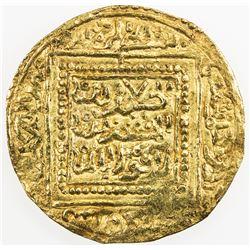 MERINID: Abu Faris 'Abd al-'Aziz II, 1393-1396, AV dinar (4.46g), Madinat Fas (Fez), ND. EF