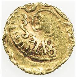 ALAWI SHARIF: 'Abd al-Rahman, 1822-1859, AV 1/2 bunduqi (1.66g), Fes, AH1248. VF